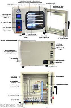 Ai Ul/csa 0.9 Cu Ft 110v Vacuum Oven 5-sided Heating With 9 Cfm Vacuum Pump