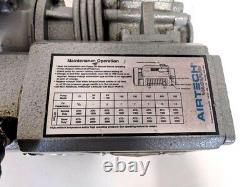 Airtec L12-g1 Huile Lubrifiée Rotative Vane Pump 7 Cfm 2 Pompe À Vide Torr