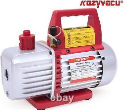 Auto Ac Repair Complete Tool Kit With 1-stage 3.5 Cfm Vacuum Pump Acccessories