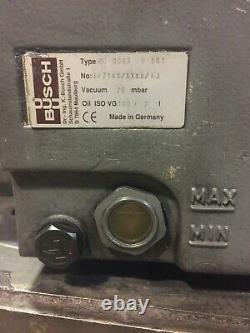Busch Rc0063 B 501 Pompe À Vide Avec 41 Cfm 29 Hg 2.2kw(3hp)