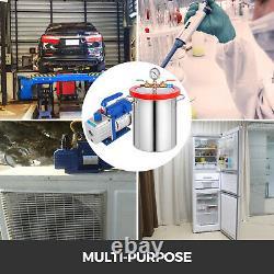 Chambre À Vide De 3 Gallons Et Kit Air Ac À Étage Unique 3cfm Dégazant Silicone Air