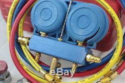 Combo 3cfm 1 / 4hp Ac Pompe À Vide Hvac & Refrigeration Manifold Gauge R134 R22 R12