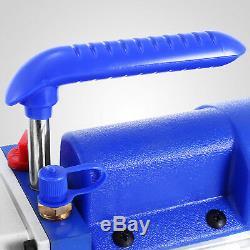 Combo 4 Cfm 1 / 4hp Air Pompe À Vide Hvac + R134a Kit Ac A / C Manomètre Grande
