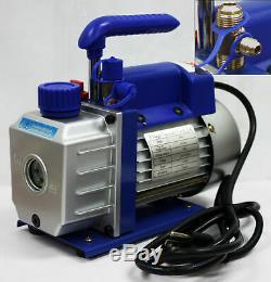 Combo Ac Réfrigérant Pompe À Vide 3cfm & R12 R22 R134a Ac Manomètre