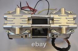 Dry Run Twin Piston Pompe À Vide Sans Huile 3.5 Cfm High Efficiency Workshop Lab