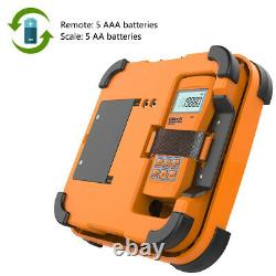 Elitech Svp-7 Vacuum Pump 7 Cfm 2 Stage Intelligent Hvac+lmc-300l Échelle De Charge