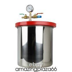 Kit De Chambre De Dégazage À Vide En Acier Inoxydable 5 Gallon Avec Pompe Cfm 5 USA