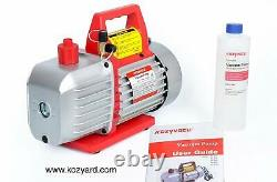 Kozyvacu Ta500 5cfm 2 Étapes Rotative Vane Vacuum Pump (5.0 Cfm, 40 Micron, 1/2 Hp)