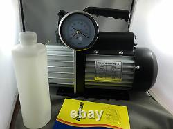 Nouvelle 2 Étape 4.5 Cfm Pompe À Vide Réfrigération 3 Jauge Selonoid Valve 2ds245s