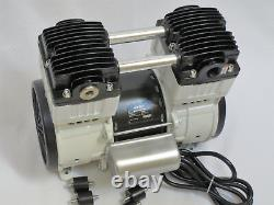 Oilless Vacuum Pumptwin Piston 10cfm Industrial Continuous Duty Dental Lab 110v