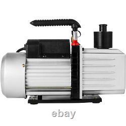 Pompe À Vide 8cfm 1hp Pompe À Vide Tournante CVC À Deux Étages Réfrigérant Automatique Ac