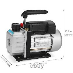 Pompe À Vide À 1 Étage 3cfm 1/4hp Vane Rotative Deep CVC Air Tool Pour Ac R410a R134
