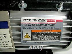 Pompe À Vide Pittsburgh Automotive 2.5 Cfm Ac Refrigeration Nouveau