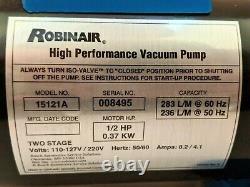 Pompe À Vide Robinair 15121a, 10cfm, 110-127v/220v, 2-stage