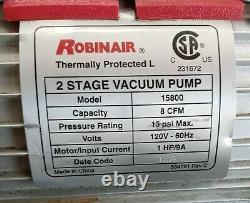 Pompe À Vide Robinair 2 Étapes 8 Cfm 120 Volts