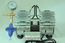 Pompe À Vide Twin Piston Sans Huile 5.5cfm 3/4hp Cow Goat Milker Pulsator+regulator
