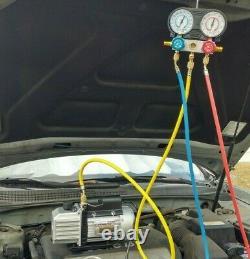 Réfrigération Pompe À Vide Ac Air Manifold 2.5 Cfm CVC R134a R12 R22 Automobile