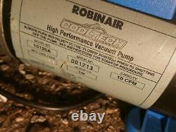 Robinair 15120a Pompe À Vide Haute Performance, Deux Étapes, 115v 10cfm 1/2hp