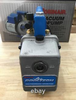 Robinair Cooltech 4cfm 1/3hp Pompe À Vide CVC Spx 15400 Grande Condition