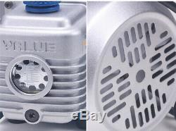 Rotary Vane Profond Pompe À Vide 2.12cfm 1 / 5hp CVC Outil 2pa 220 V Climatisation