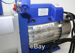 Simple Étape 7 Cfm 1/2 HP Rotary Vane Profond Pompe À Vide 110v 60hz Ac Cvca Outil