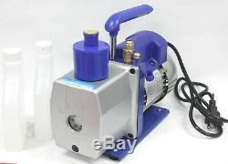 Simple Étape Gaz Hvac Ac 5 Cfm 1 / 3hp Rotary Vane Pompe À Vide R134a R410a R22