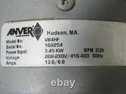 Souffleur De Pompe À Vide Régénératif Anver Vb4hf 220 Cfm 208-230/460v