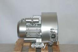 Souffleur Régénératif 2hp 85cfm 104h2o Presse, Ventilateur De Canal Latéral 220v / 1ph