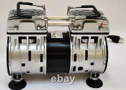 Twin Piston Huile Sans Pompe À Vide 4cfm Laboratoire Médical Bagging Atelier Milker Hookup
