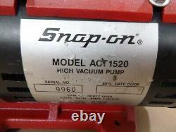 Un Véritable Snap Sur Act1520 Pompe À Vide Haute 1.2 Cfm 50/60hz 110-115v