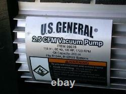 Us General 2.5cfm Pompe À Vide 98076 115v 60hz 1/6hp 1720rpm Capacité Huile 200ml