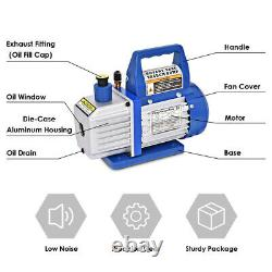 Vacío De L'air 3hp Aire Pompe À Vide Hvac Réfrigération Automatique Ac Collecteur R134 4cfm