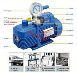 Vane Rotative De Pompe À Vide À Une Étape Avec Jauge 4.3cfm 1/3hp Réfrigération D'air 2pa