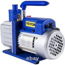 Véveur 4.8cfm 1/3hp Pompe À Vide Rotatif Feu De Pluie R410a R134a R22