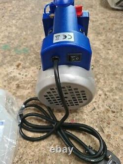 Vevor 2.5cfm 1 Étape Réfrigérant Pompe À Vide Air 1/4hp 220ml + Huile Incluse