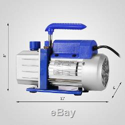 Vevor 4 Cfm 1 / 4hp Air Pompe À Vide Hvac + R134a Kit Ac A / C Manomètre Top