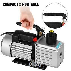 Vevor 8cfm Pompe À Vide Rotative À Fourgonnette À Double Étage CVC / Climatisation Automatique