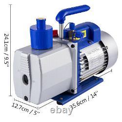Vevor 9 Cfm 2 Étapes Pompe À Vide 1hp Climatisation Réfrigération R22 R410a