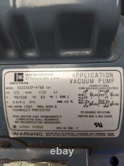 Welch Chemstar 1402n-01 Pompe À Vide 1/2hp Ph1 115v Pour Gaz De Corrosion 5.6cfm