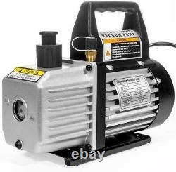 Xtremepowerus 3cfm 1/4hp Pompe À Vide D'air CVC R134a R12 R410a Réfrigération A/c