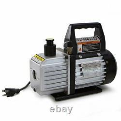 Xtremepowerus 3cfm 1/4hp Pompe À Vide D'air Cvac R134a R12 R22 R410a A/c Refrigera