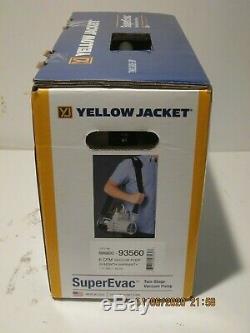 Yellow Jacket 93560 Superevac 6 Cfm Pompe À Vide F / Nouveau Bateau En Boite Etanche 12/2019