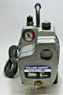 Yellow Jacket Superevac 2 Étapes 6cfm 115v Pompe À Vide 93560