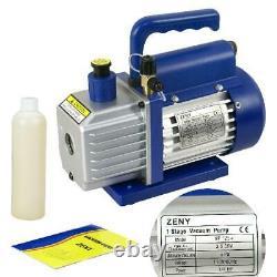 Zeny 3,5 Cfm Mono-stage 5 Pa Rotary Vane Vacuum Pump 1/4hp Air Conditioner Ref